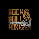 Rock and Roll Forever royalty free illustration