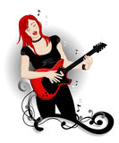 Rock and roll girl Royalty Free Stock Photo