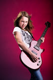 Rock and Roll girl Royalty Free Stock Photography