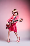 Rock and Roll girl Stock Images