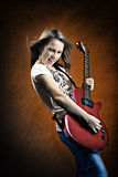 Rock and Roll girl Stock Image