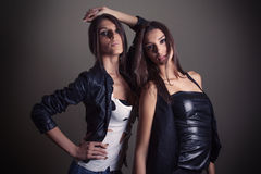 Rock and roll girls Royalty Free Stock Images