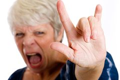 Rock and Roll Grandma Stock Photos