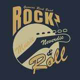 Rock and roll graphic for t-shirt,vector illustration Royalty Free Stock Photo