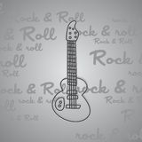 Rock and roll guitar theme Stock Image