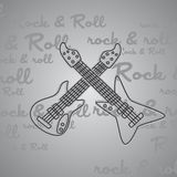 Rock and roll guitar theme Royalty Free Stock Photo