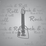 Rock and roll guitar theme Stock Photos