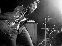 Rock and roll guitarist Royalty Free Stock Image
