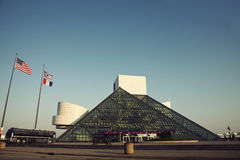 The Rock and Roll Hall of Fame and Museum Stock Images
