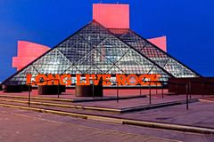 The Rock and Roll Hall of Fame and Museum in Cleveland, Ohio, USA. royalty free stock images