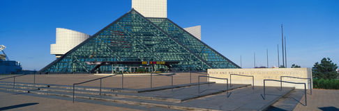 Rock And Roll hall of fame muzeum, Cleveland, OH Fotografia Royalty Free
