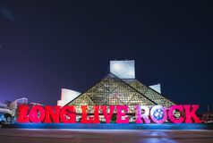 Rock and roll hall of frame.cleveland,ohio,usa.2-19-17: rock and stock images