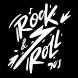 Rock and Roll hand drawn vector lettering. Music Festival logo vector illustration