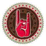 Rock and roll hand sign. Illustrated rock and roll hand sign Royalty Free Stock Photography