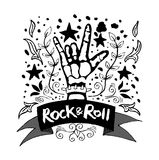 Rock and Roll hand sign Stock Photography
