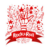 Rock and Roll hand sign Stock Image