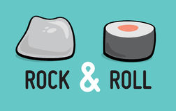 Rock and roll humor ilustracji