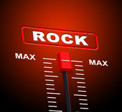 Rock And Roll Indicates Acoustic Sound And Audio Stock Photo