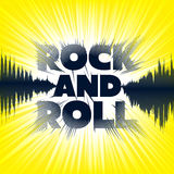 Rock and roll lettering Foto de Stock