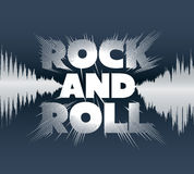Rock-and-roll lettering. Stock Image