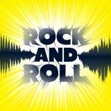 Rock and roll literowanie ilustracji