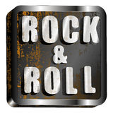 Rock and roll metal inscription Royalty Free Stock Images