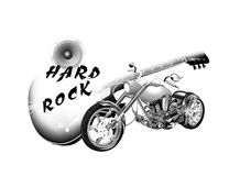 Rock and roll metal inscription Stock Image