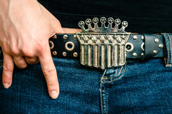 Rock & Roll Midriff Stock Photography