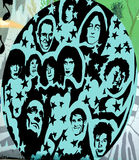 Rock and Roll mural Royalty Free Stock Photography