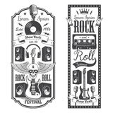 2 rock and roll music flayer covers. vector illustration