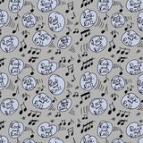 Rock and roll music seamless pattern Stock Image