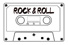 Rock And Roll Music Tape Cassette royalty free stock photo