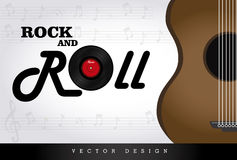 Rock and roll. Over gray background vector illustration Royalty Free Stock Photo