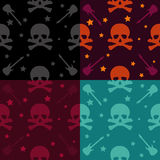 Rock and Roll Pattern. In different color sets Royalty Free Stock Photography