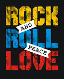 Rock and roll peace love Royalty Free Stock Photo