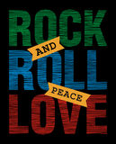 Rock, and, roll, peace, love Stock Image