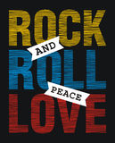 Rock and roll peace love Stock Photography