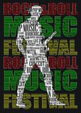 ROCK AND ROLL POSTER Stock Photos