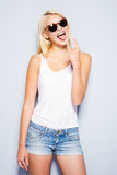 Rock and Roll queen. Royalty Free Stock Images