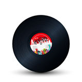 Rock and roll record. Rock and roll vinyl record over white background vector illustration