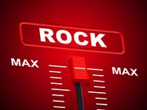 Rock And Roll Represents Soundtrack Melody And Audio Stock Photography