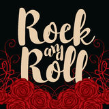 Rock and roll and roses Stock Photography