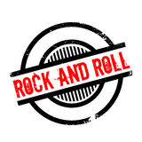 Rock And Roll rubber stamp. Grunge design with dust scratches. Effects can be easily removed for a clean, crisp look. Color is easily changed vector illustration