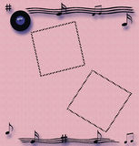 Rock and roll scrapbook Royalty Free Stock Photos