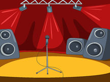 Rock&Roll Stage Cartoon Royalty Free Stock Photography