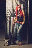 Rock and roll star Royalty Free Stock Photos