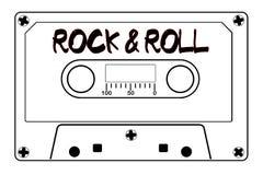 Rock And Roll taśmy Muzyczna kaseta Zdjęcie Royalty Free