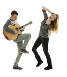 Rock and roll teens Stock Images