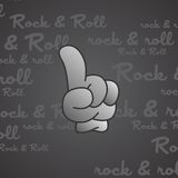 Rock and roll theme hand gesture Royalty Free Stock Photo