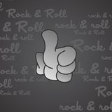 Rock and roll theme hand gesture Royalty Free Stock Photos